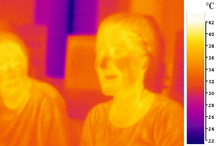 People give off heat that is not visible to naked eye but is easily seen with an infrared camera. Most of the light spectrum is invisible.