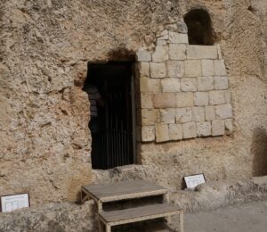 The Garden Tomb in Jerusalem - one of the traditional burial sites of Christ.