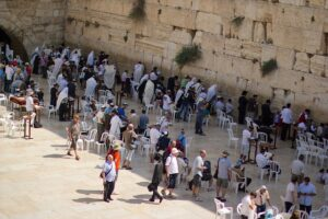 The Temple Mount in Jerusalem is sacred to three world religions. It was destroyed during the Babylonian invasion.