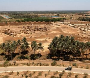 Ruins of ancient Babylon which invaded Judah on three occasions and conquered Jerusalem leading the population into captivity.