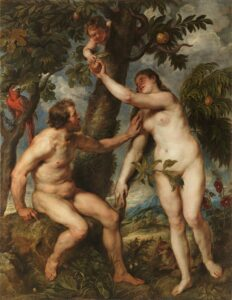 Adam and Eve is the story in Genesis as to how sin entered the world.