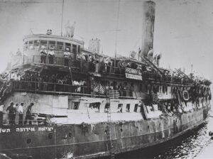 The refugee ship Exodus was not allowed to enter Israel