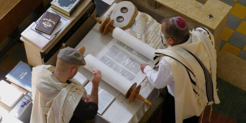 The Torah is the first five books of the Old Testament representing the Law.