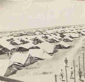 Jews trying to return to the Promised Land were kept from returning and housed in camps on the island of Cyprus.