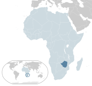 Zimbabwe located in Southern Africa contains a large community of Jews