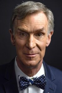 "Bill Nye who portrays himself as ""The Science Guy"""