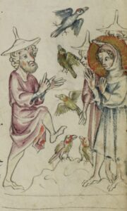Infancy Gospel of Thomas tells the story of the young Christ bringing clay birds to life.