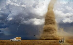 Natural evil such as storms can provide significant suffering and destruction.