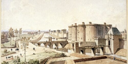 The Bastille was a French prison housing political prisoners. These prisoners were released from Bastille by a rioting population starting the French Revolution.