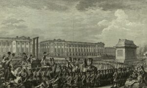 The execution of King Louis XVI was for high treason.
