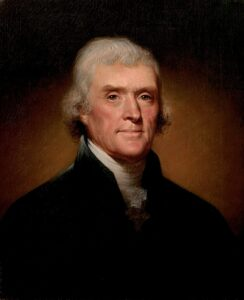 Thomas Jefferson was the primary author of the Declaration of Independence which declared the inherent, God-given rights of people.