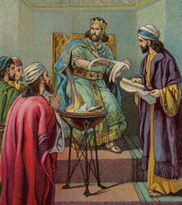Jehoiakim was one of the most evil Kings of Israel, actually burning Jeremiah's scroll.