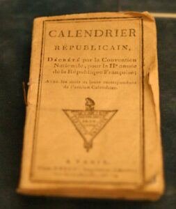 The French Revolution adopted a new calendar so not to reference any religion, starting at year 1.