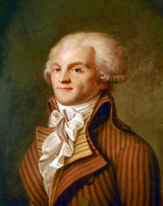 Robespiere was a leader of the French Revolution who was himself guillotined.