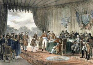 The signing of the Convention of 1800 ended the Quasi-War with France.