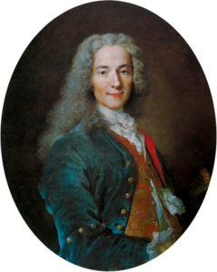 Voltaire was the pen-name of a famous writer and critic of the Enlightenment of pre-Revolutionary France.