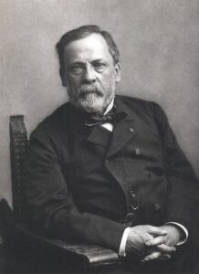 Louis Pasteur was a French microbiologist who demonstrated life does not arise from non-life.