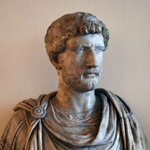 Hadrian inadvertently substantiated the existence of Christ; he famously built the Hadrian Wall in England among other great building projects.