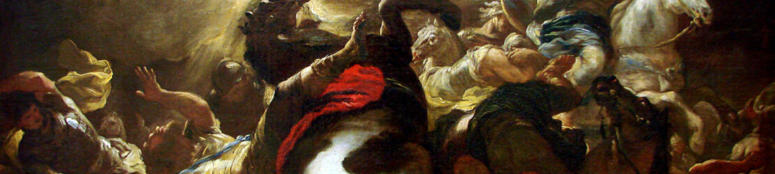 The conversion of Paul occurred in 34 AD shortly after the Crucifixion.