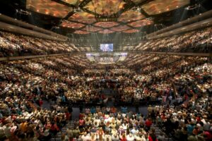 Lakewood Church in Houston TX is likely the largest church in the USA.